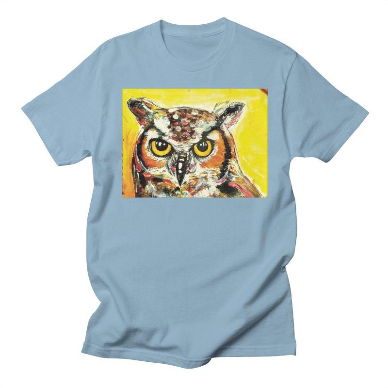 It's Owl Time! Men's Regular T-Shirt by AlmaT's Artist Shop