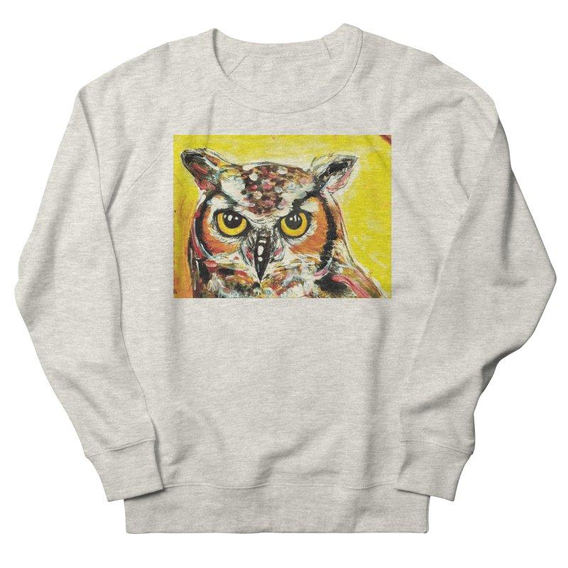 It's Owl Time! Women's French Terry Sweatshirt by AlmaT's Artist Shop