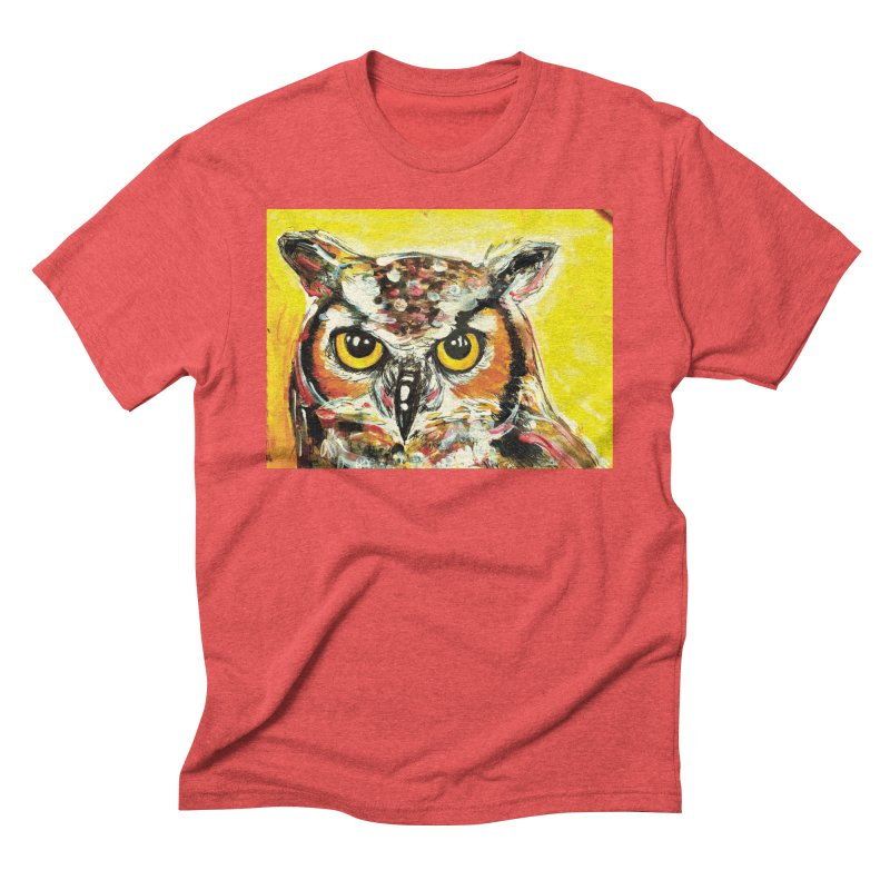 It's Owl Time! Men's Triblend T-Shirt by AlmaT's Artist Shop