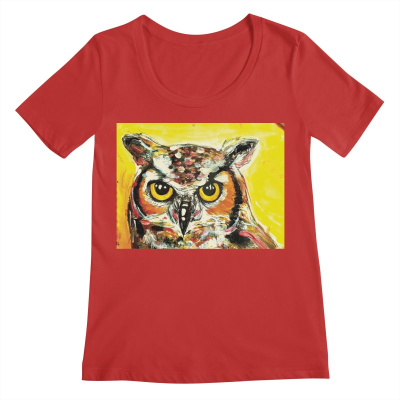 It's Owl Time! Women's Regular Scoop Neck by AlmaT's Artist Shop