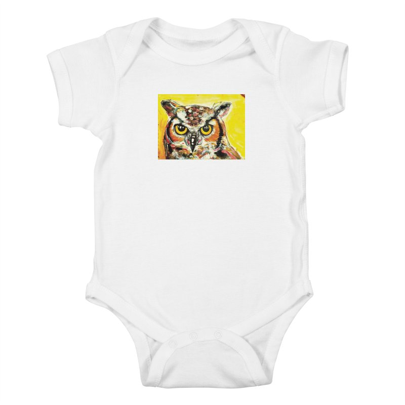 It's Owl Time! Kids Baby Bodysuit by AlmaT's Artist Shop