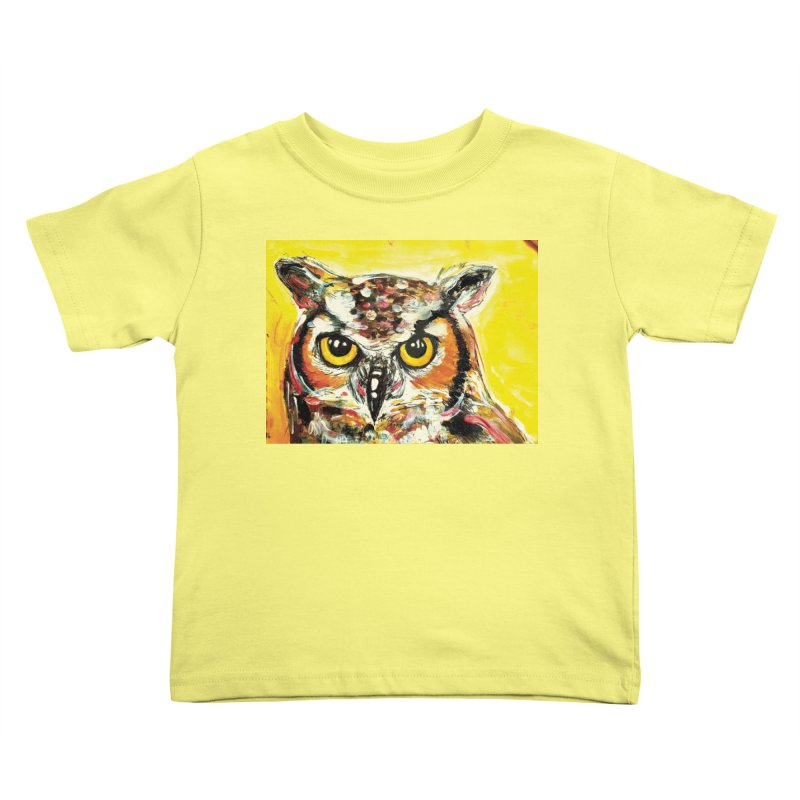 It's Owl Time! Kids Toddler T-Shirt by AlmaT's Artist Shop