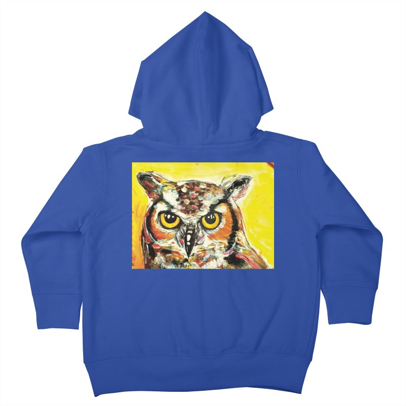 It's Owl Time! Kids Toddler Zip-Up Hoody by AlmaT's Artist Shop