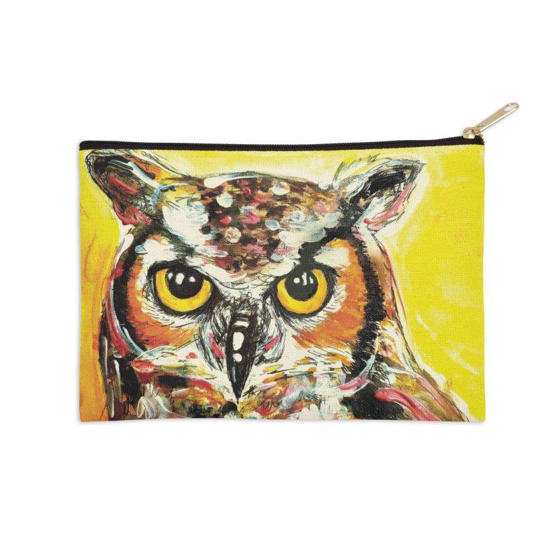 It's Owl Time! Accessories Zip Pouch by AlmaT's Artist Shop