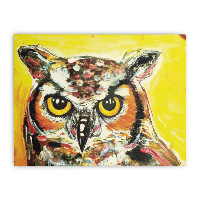 It's Owl Time! Home Stretched Canvas by AlmaT's Artist Shop
