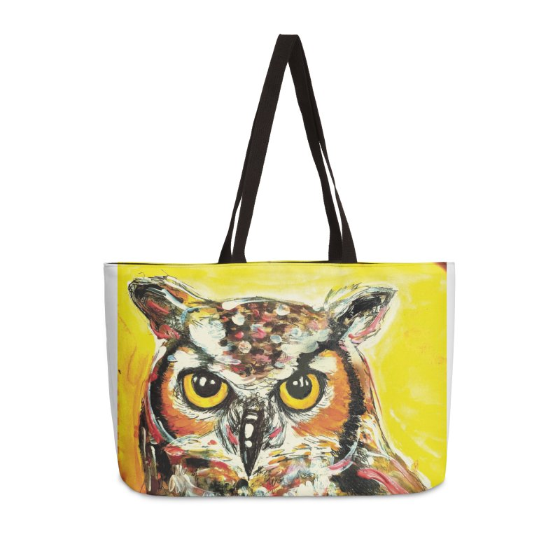 It's Owl Time! Accessories Weekender Bag Bag by AlmaT's Artist Shop
