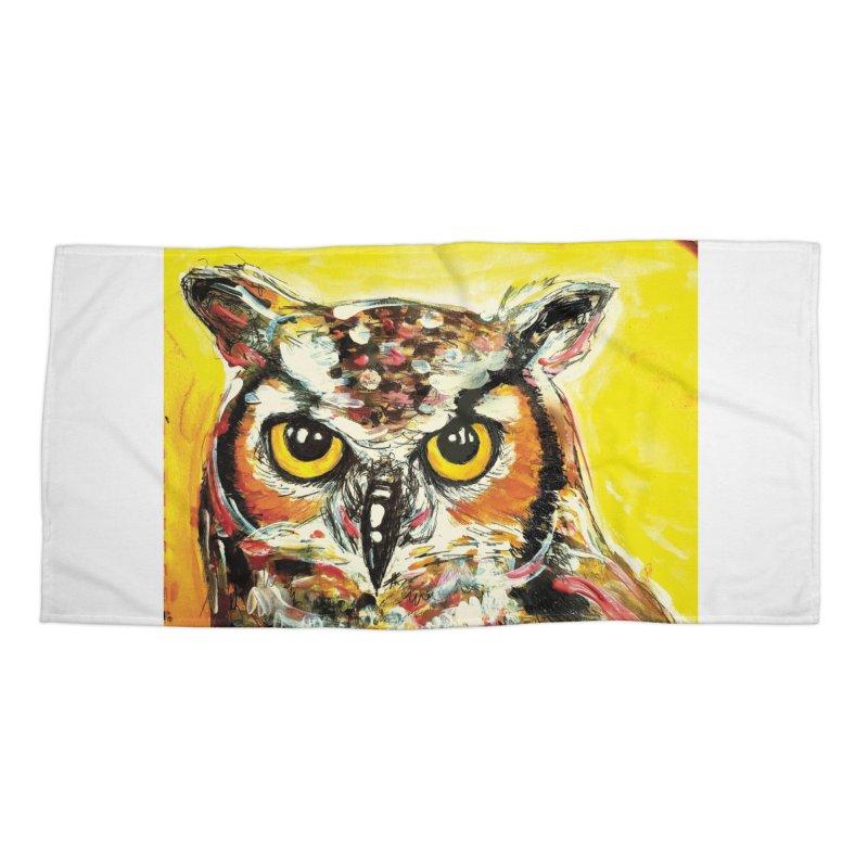 It's Owl Time! Accessories Beach Towel by AlmaT's Artist Shop