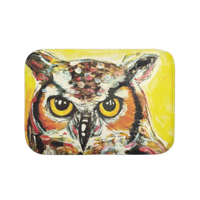 It's Owl Time! Home Bath Mat by AlmaT's Artist Shop