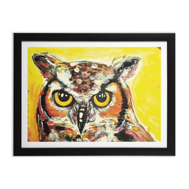 It's Owl Time! Home Framed Fine Art Print by AlmaT's Artist Shop