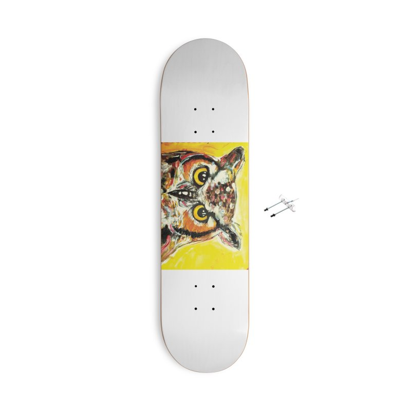 It's Owl Time! Accessories With Hanging Hardware Skateboard by AlmaT's Artist Shop
