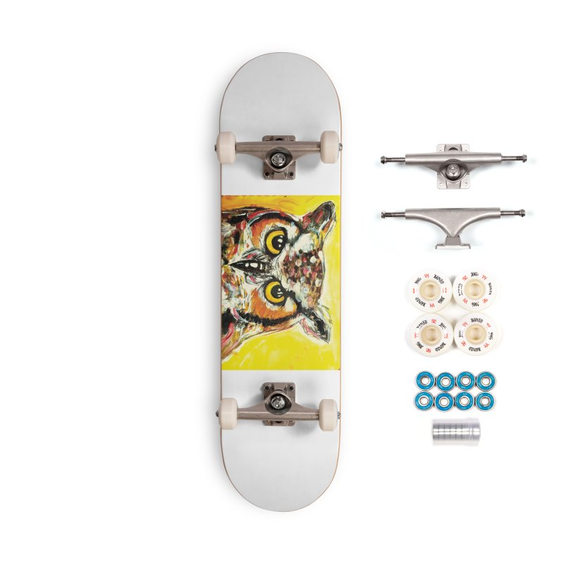It's Owl Time! Accessories Complete - Premium Skateboard by AlmaT's Artist Shop