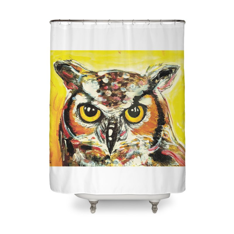 It's Owl Time! Home Shower Curtain by AlmaT's Artist Shop