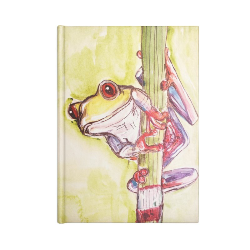 Red-eyed tree frog Accessories Lined Journal Notebook by AlmaT's Artist Shop