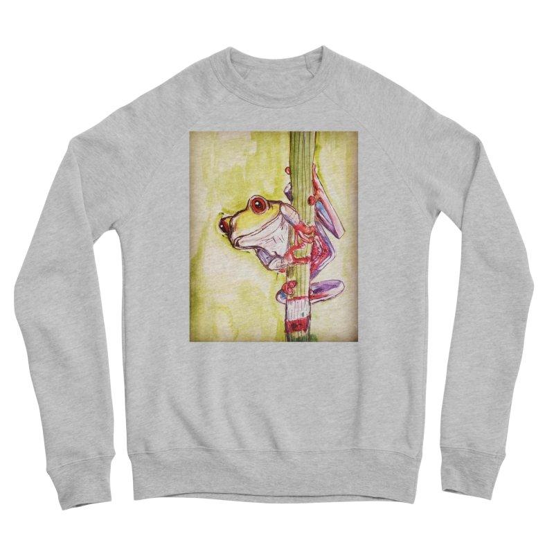 Red-eyed tree frog Women's Sponge Fleece Sweatshirt by AlmaT's Artist Shop