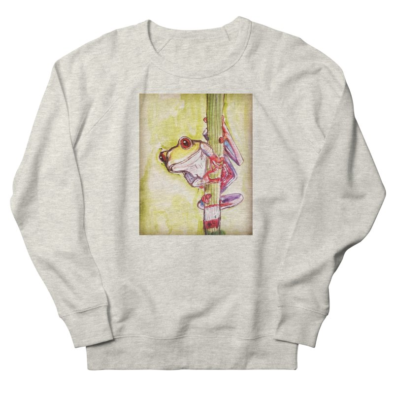 Red-eyed tree frog Women's French Terry Sweatshirt by AlmaT's Artist Shop