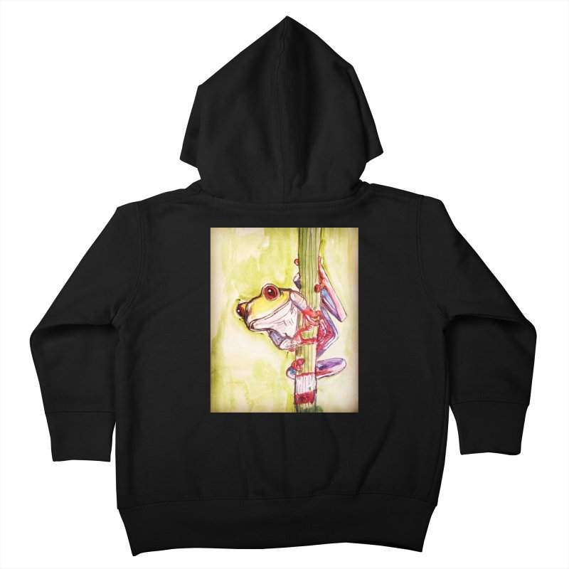 Red-eyed tree frog Kids Toddler Zip-Up Hoody by AlmaT's Artist Shop
