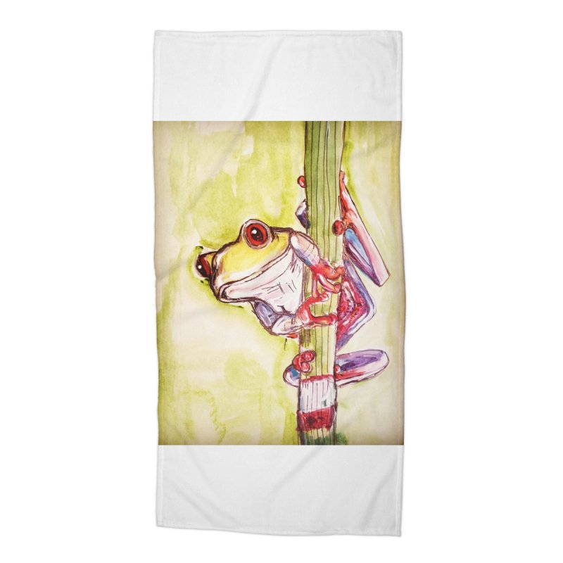 Red-eyed tree frog Accessories Beach Towel by AlmaT's Artist Shop