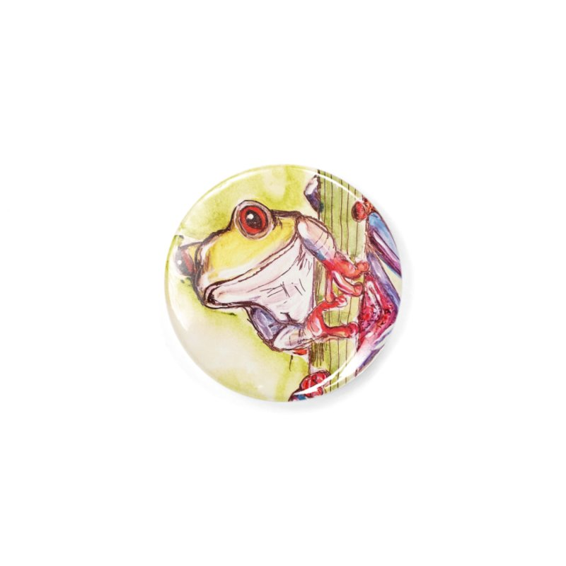 Red-eyed tree frog Accessories Button by AlmaT's Artist Shop