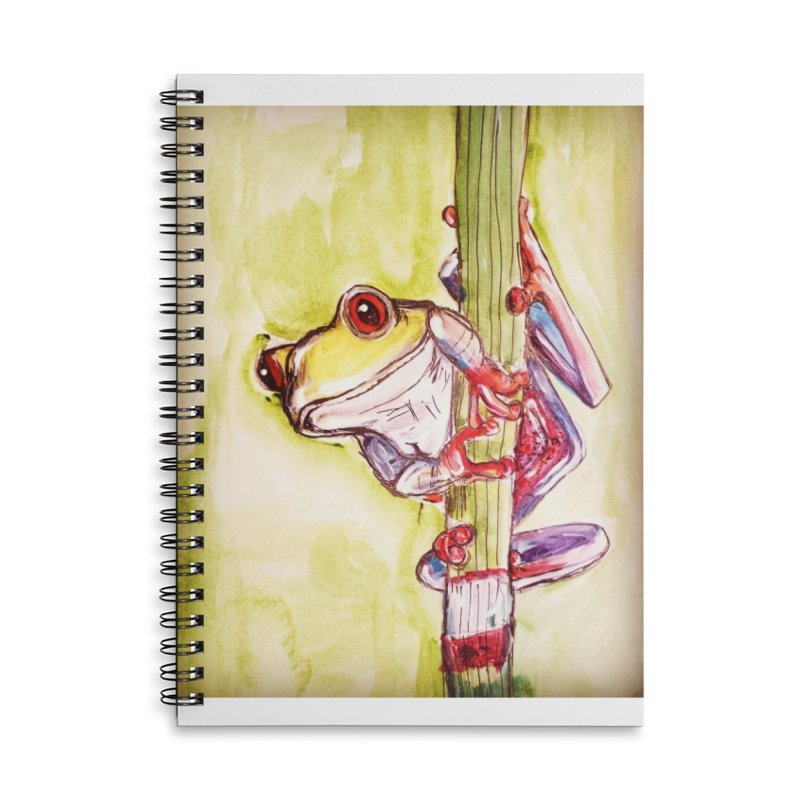 Red-eyed tree frog Accessories Lined Spiral Notebook by AlmaT's Artist Shop