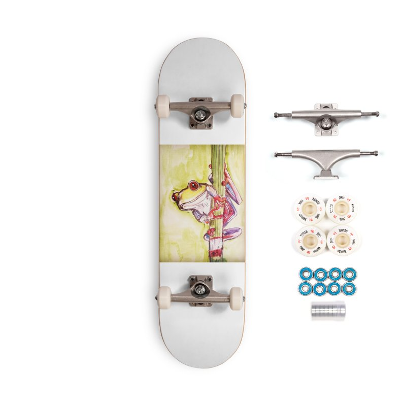 Red-eyed tree frog Accessories Complete - Premium Skateboard by AlmaT's Artist Shop