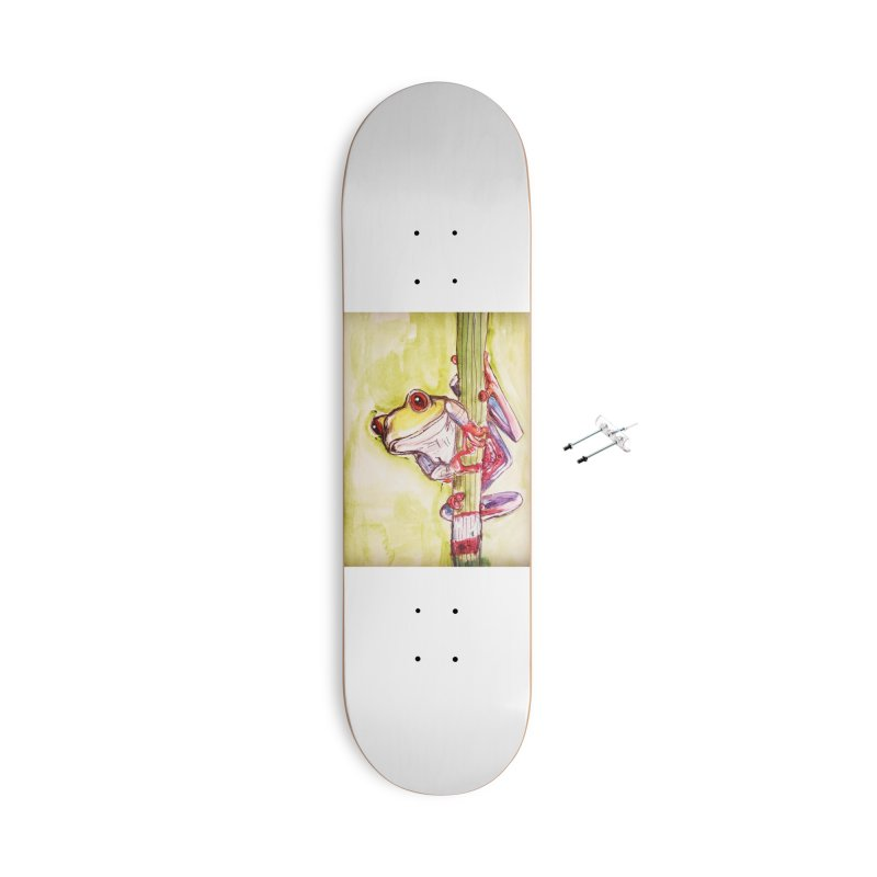 Red-eyed tree frog Accessories With Hanging Hardware Skateboard by AlmaT's Artist Shop