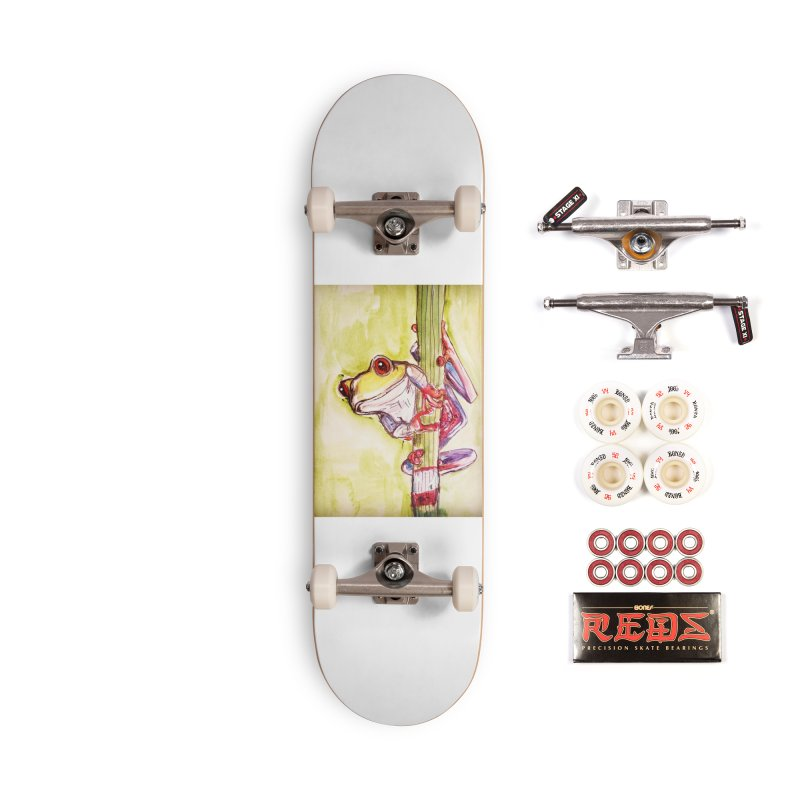 Red-eyed tree frog Accessories Complete - Pro Skateboard by AlmaT's Artist Shop