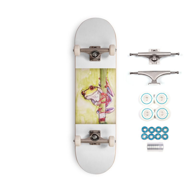 Red-eyed tree frog Accessories Skateboard by AlmaT's Artist Shop