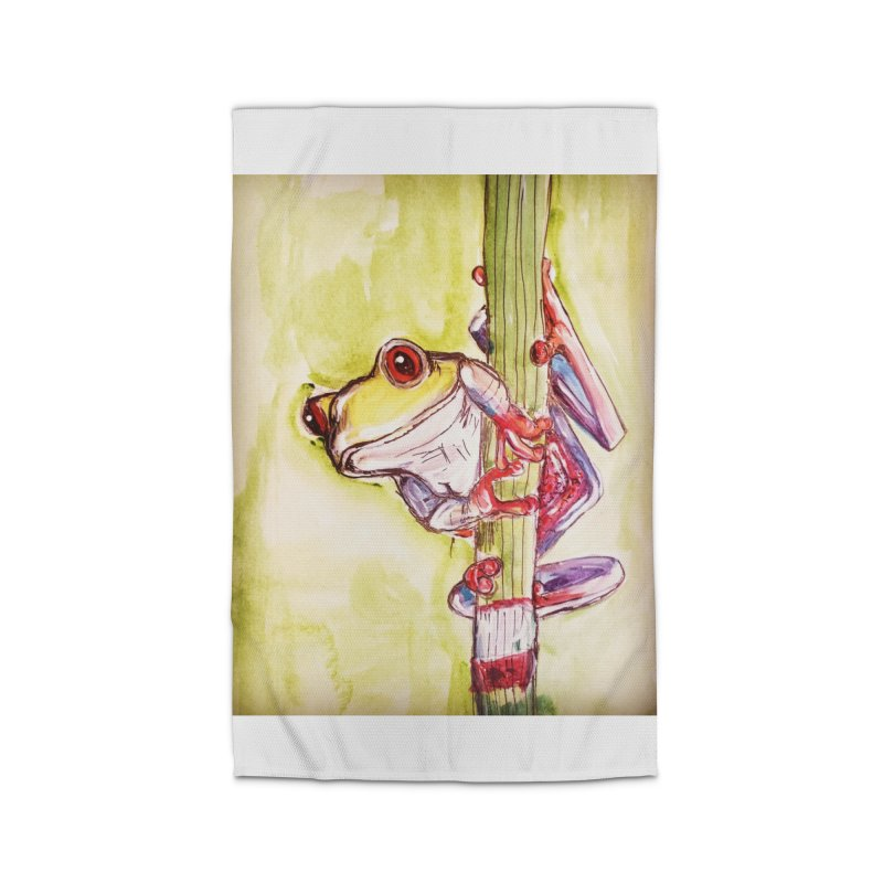Red-eyed tree frog Home Rug by AlmaT's Artist Shop