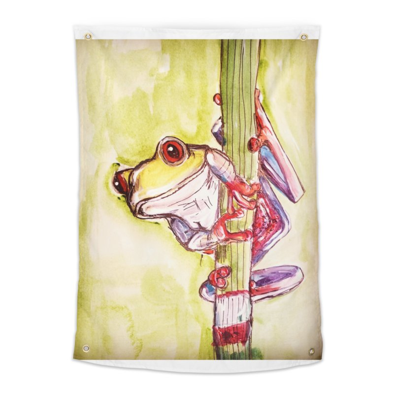 Red-eyed tree frog Home Tapestry by AlmaT's Artist Shop