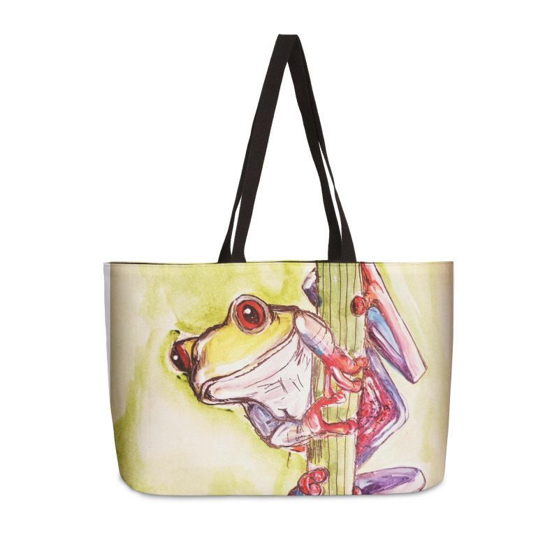 Red-eyed tree frog Accessories Weekender Bag Bag by AlmaT's Artist Shop