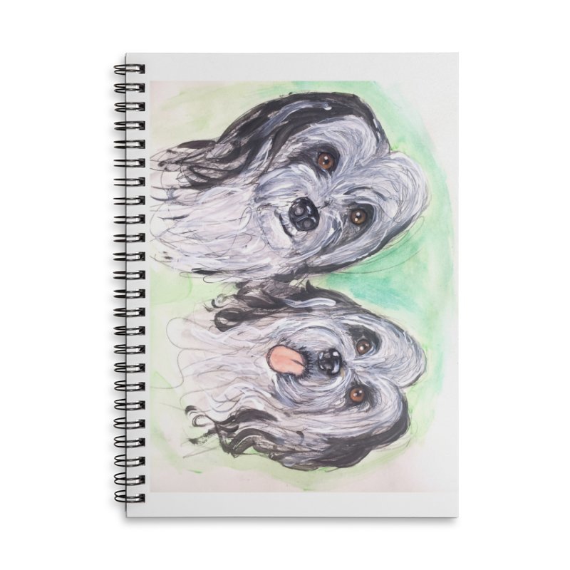 Polish Lowland Sheepdog Accessories Lined Spiral Notebook by AlmaT's Artist Shop