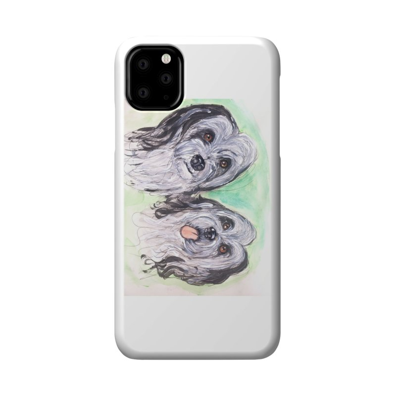 Polish Lowland Sheepdog Accessories Phone Case by AlmaT's Artist Shop