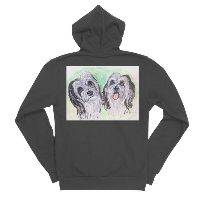 Polish Lowland Sheepdog Women's Sponge Fleece Zip-Up Hoody by AlmaT's Artist Shop