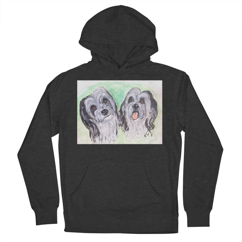 Polish Lowland Sheepdog Women's French Terry Pullover Hoody by AlmaT's Artist Shop