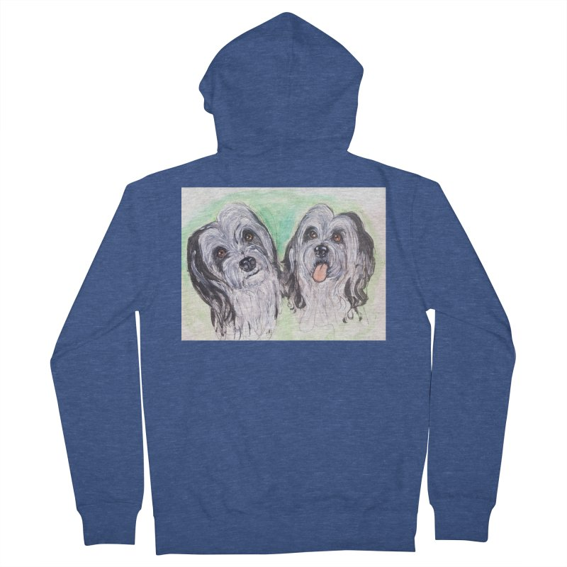 Polish Lowland Sheepdog Women's French Terry Zip-Up Hoody by AlmaT's Artist Shop