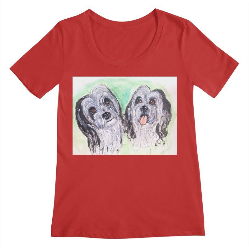 Polish Lowland Sheepdog Women's Regular Scoop Neck by AlmaT's Artist Shop