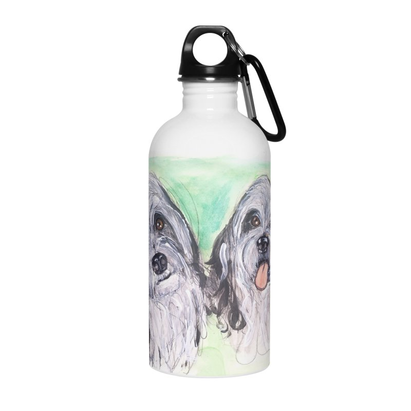 Polish Lowland Sheepdog Accessories Water Bottle by AlmaT's Artist Shop