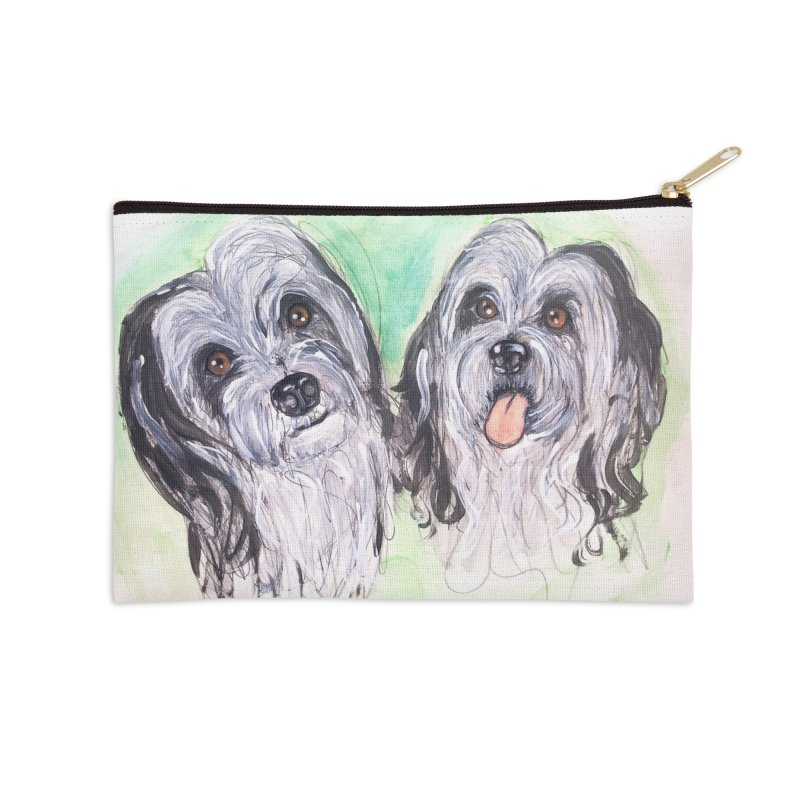Polish Lowland Sheepdog Accessories Zip Pouch by AlmaT's Artist Shop