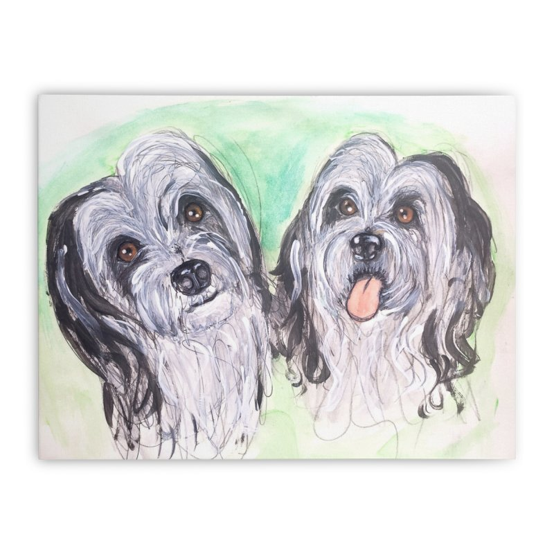 Polish Lowland Sheepdog Home Stretched Canvas by AlmaT's Artist Shop