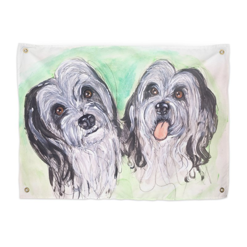 Polish Lowland Sheepdog Home Tapestry by AlmaT's Artist Shop