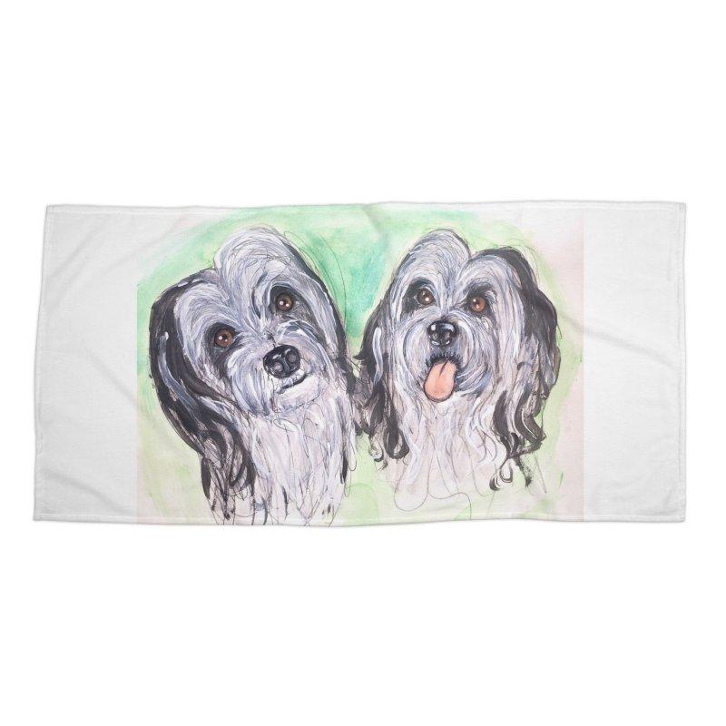 Polish Lowland Sheepdog Accessories Beach Towel by AlmaT's Artist Shop