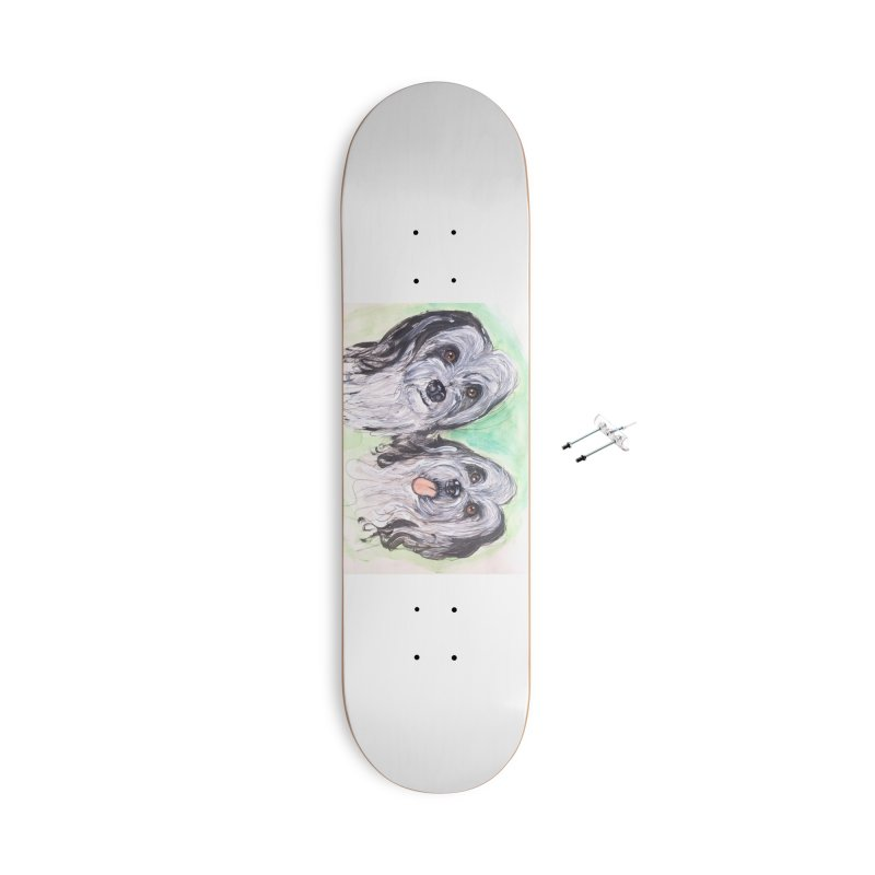 Polish Lowland Sheepdog Accessories With Hanging Hardware Skateboard by AlmaT's Artist Shop