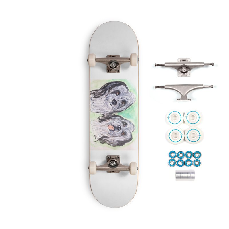 Polish Lowland Sheepdog Accessories Skateboard by AlmaT's Artist Shop