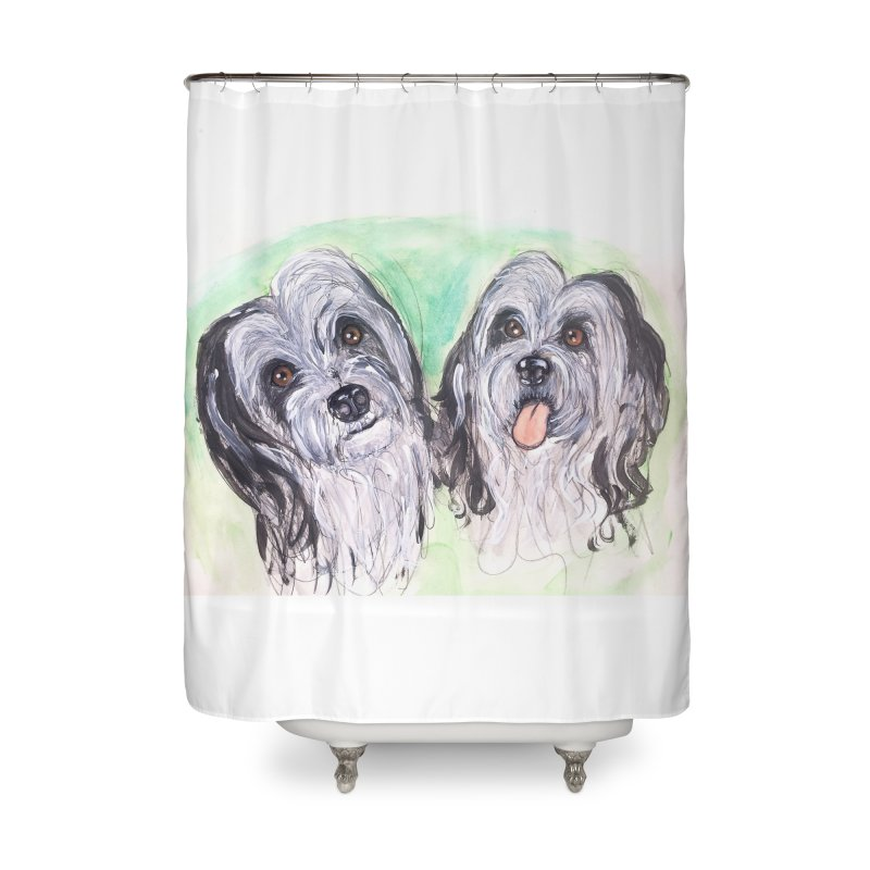 Polish Lowland Sheepdog Home Shower Curtain by AlmaT's Artist Shop