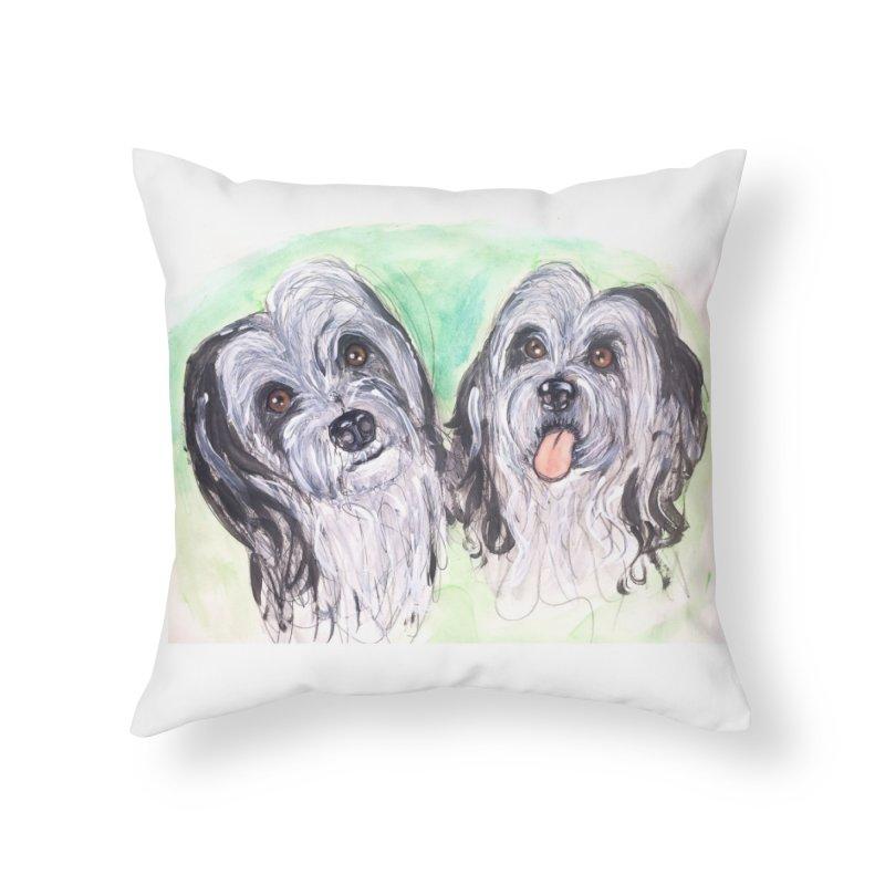 Polish Lowland Sheepdog Home Throw Pillow by AlmaT's Artist Shop