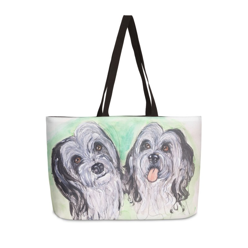 Polish Lowland Sheepdog Accessories Weekender Bag Bag by AlmaT's Artist Shop