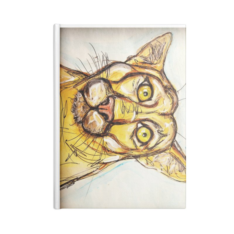 Puma Accessories Lined Journal Notebook by AlmaT's Artist Shop