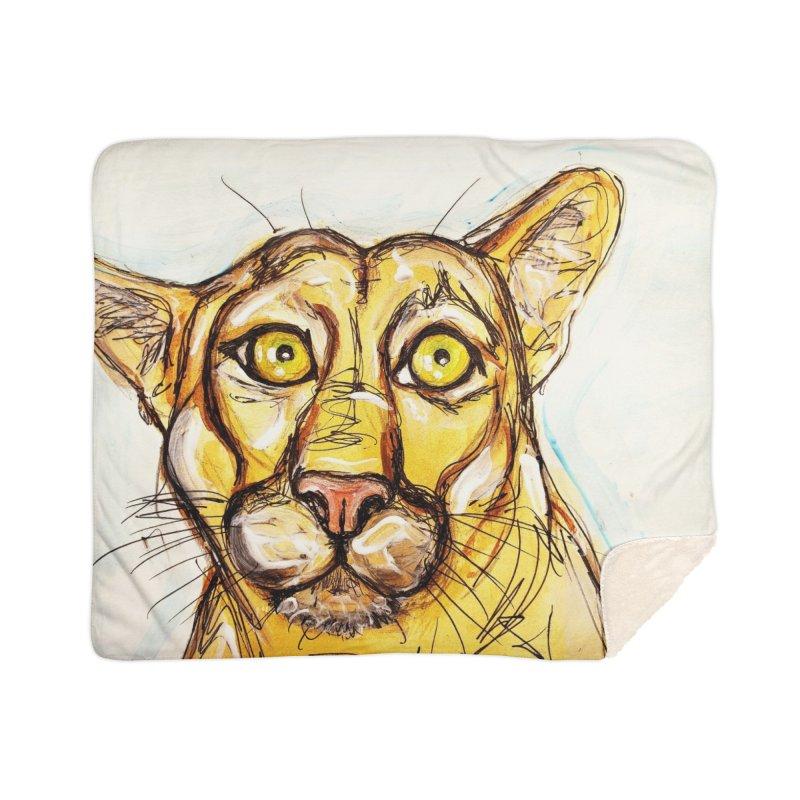 Puma Home Sherpa Blanket Blanket by AlmaT's Artist Shop