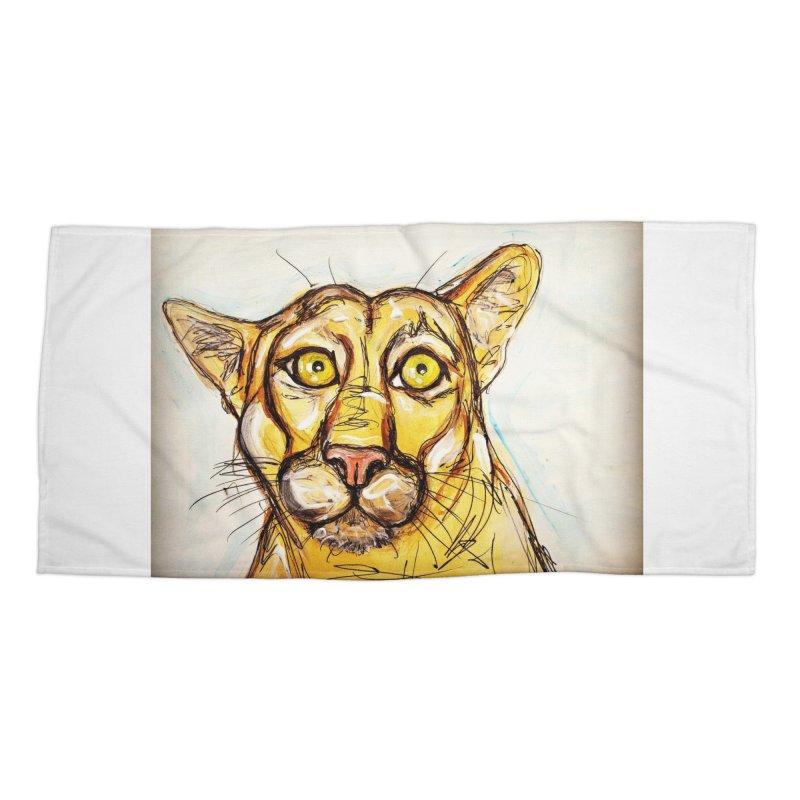 Puma Accessories Beach Towel by AlmaT's Artist Shop