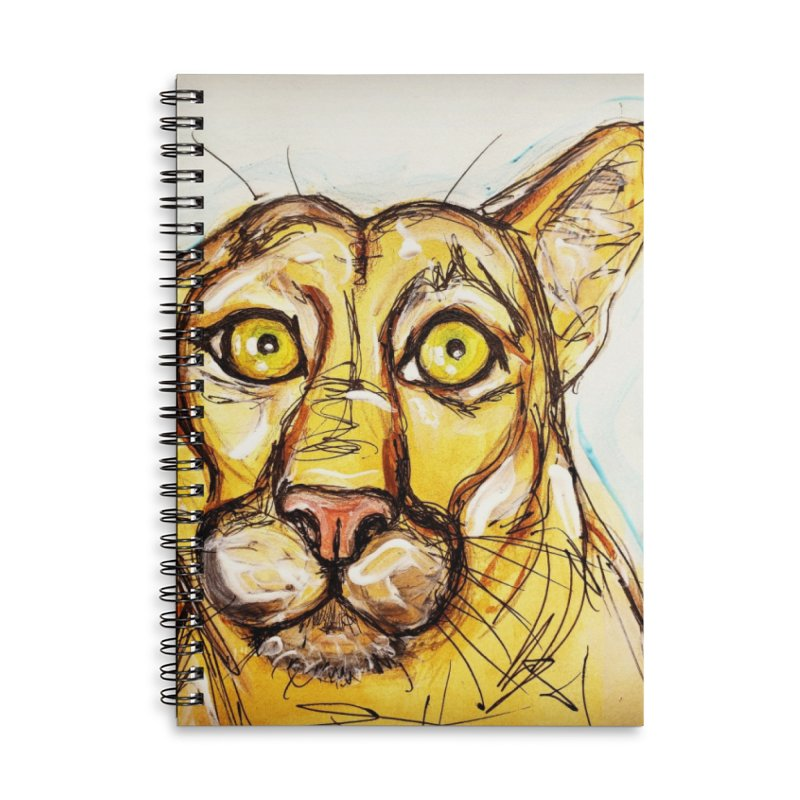 Puma Accessories Lined Spiral Notebook by AlmaT's Artist Shop